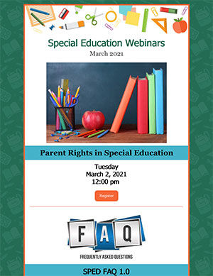 Special Education Webinar - March