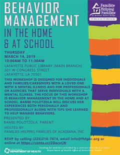 Behavior Management in the Home & at School